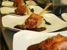 Chopstick salmon plates