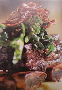 Short rib with broccoli rabe