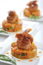 BBQ Shrimp on Vegetable Tree